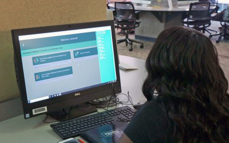 Student participating in NetTutor program