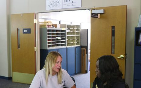 Student in private tutoring session